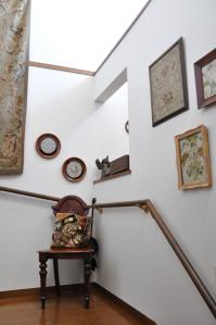 階段もギャラリースペースに