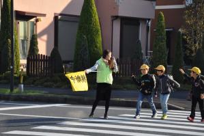 登校時の交通安全活動