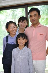 Kさんご家族 (長女Sちゃんは部活で不在、残念でした!)